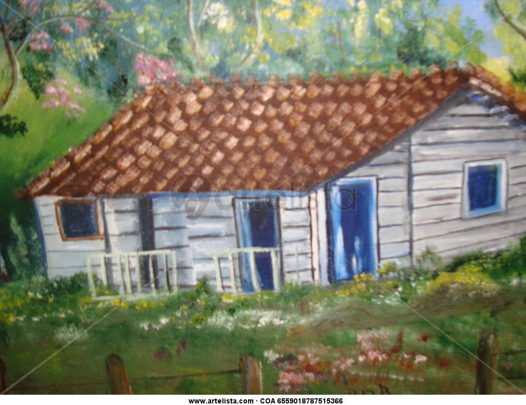 Casa de campo genesis artesanias for Pinturas para casas de campo