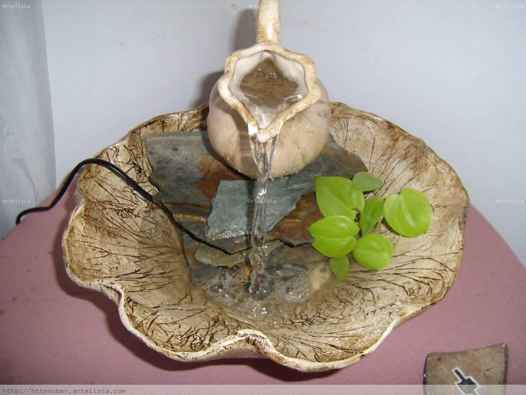 Fuente de agua en pasta piedra susana beatriz mu oz - Fuentes de piedra ...