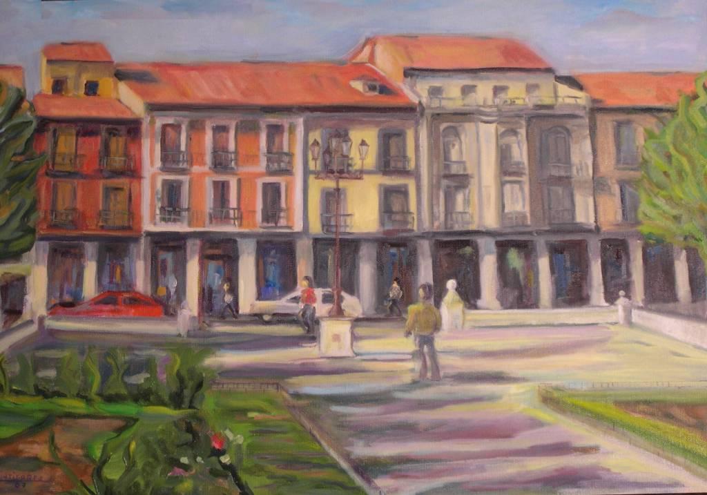 Plaza de cervantes en alcal de henares manuel gutierrez - Pintores alcala de henares ...