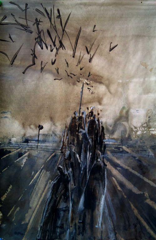 Migraban hacia el sur guiados por su instinto 2 m angeles lajara mateos - Pintura instinto ...