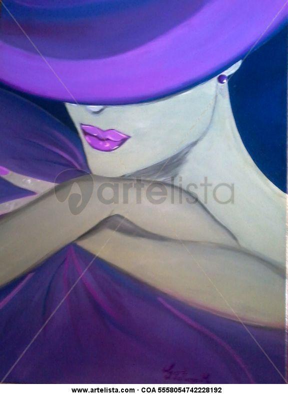 Chica con sombrero anal