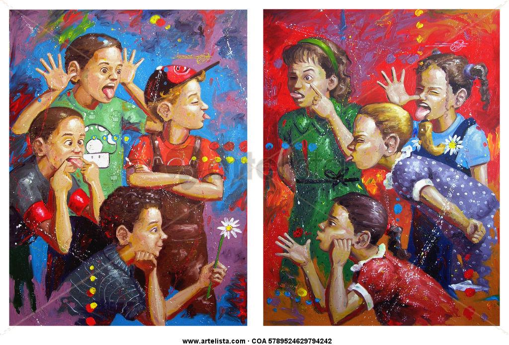 entre caras y gestos (las niñas y los niños)