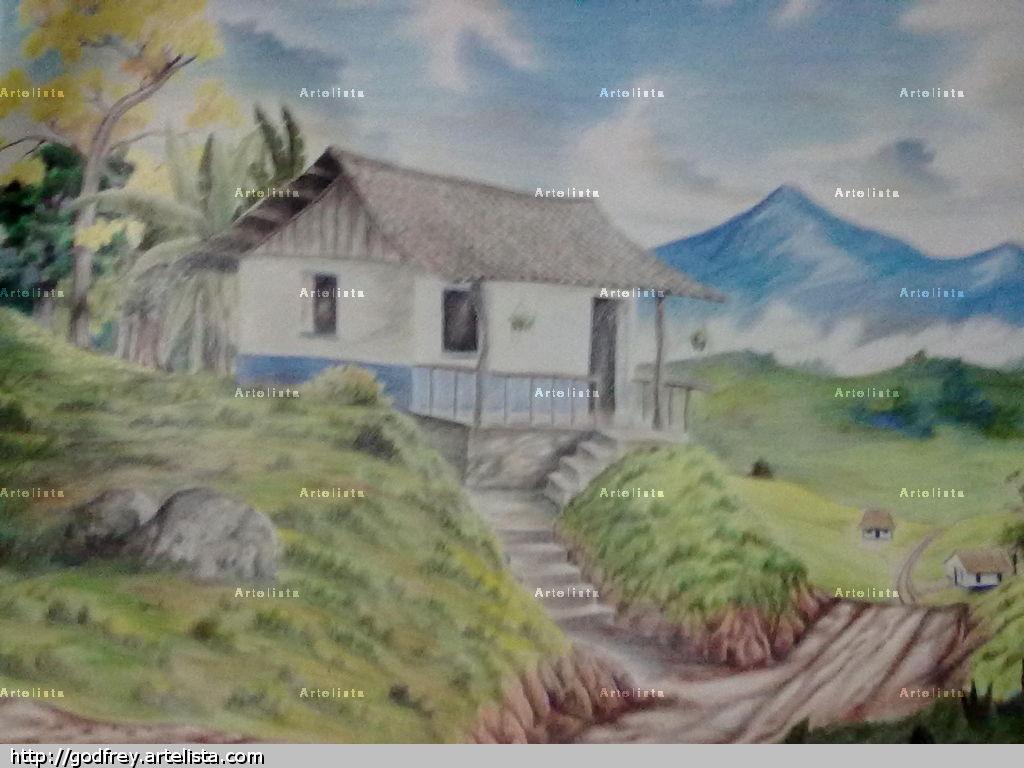 Casa de adobe costarricense freylin solis araya - Casas dibujadas a lapiz ...