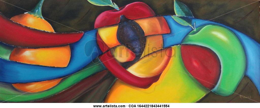 Frutero contemporaneo angel rodrigo valencia toro for Imagenes de cuadros abstractos rusticos
