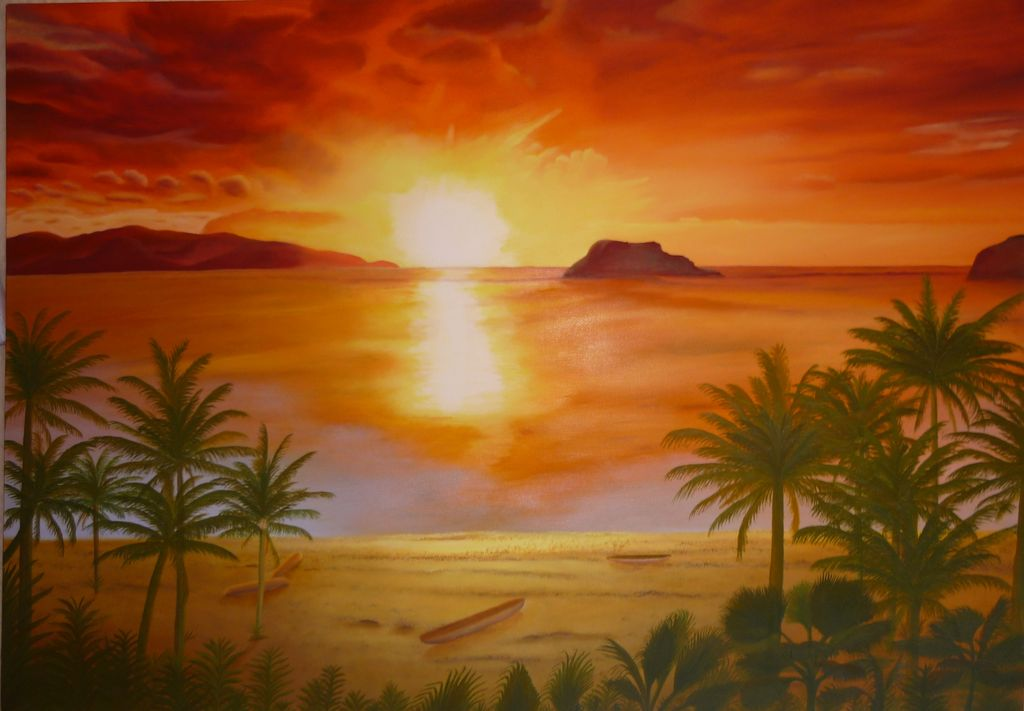 Pinturas de playas car interior design - Decorarte pinturas ...
