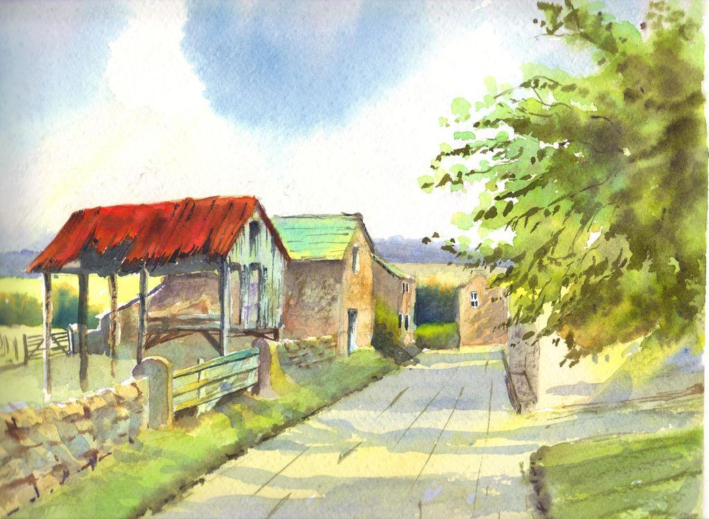 Casa de campo william molina soto for Pinturas para casas de campo