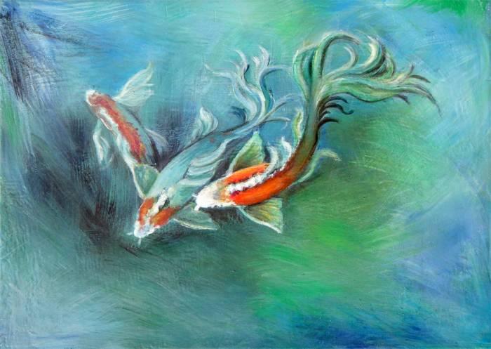 Peces ester salguero amaya for Cuadros con peces