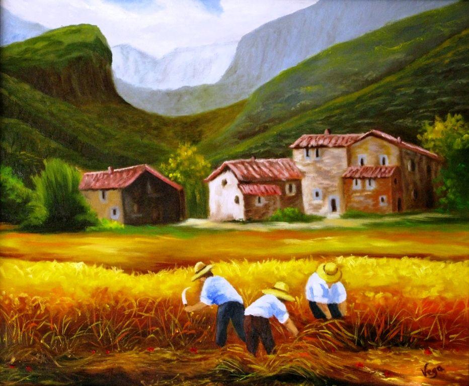 Al trabajo en el campo andr s vega blanco for Pinturas para casas de campo