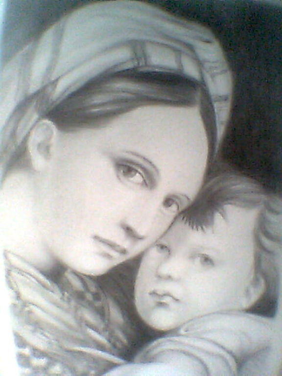 Dibujo de la Virgen de Guadalupe a lapiz - Imagui