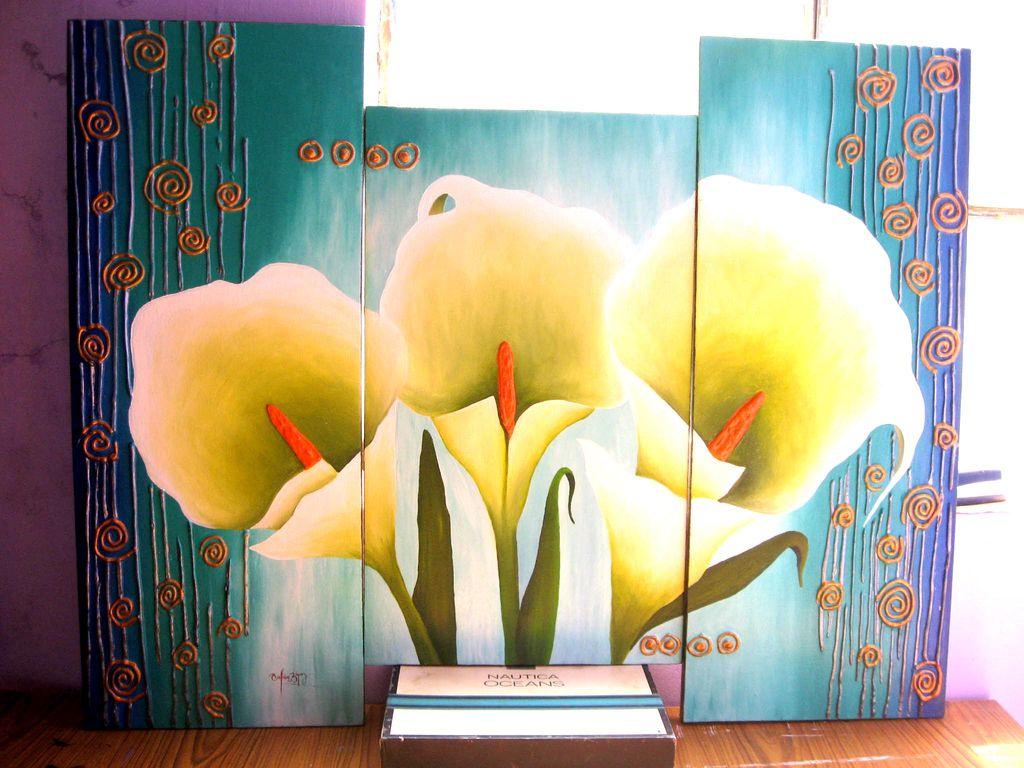 Cuadros de budas florales modernos abstractos en acrilico - Cuadros florales modernos ...