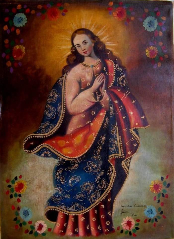 Inmaculada concepcion victor y johnny navarro conde - Cuadros estilo colonial ...