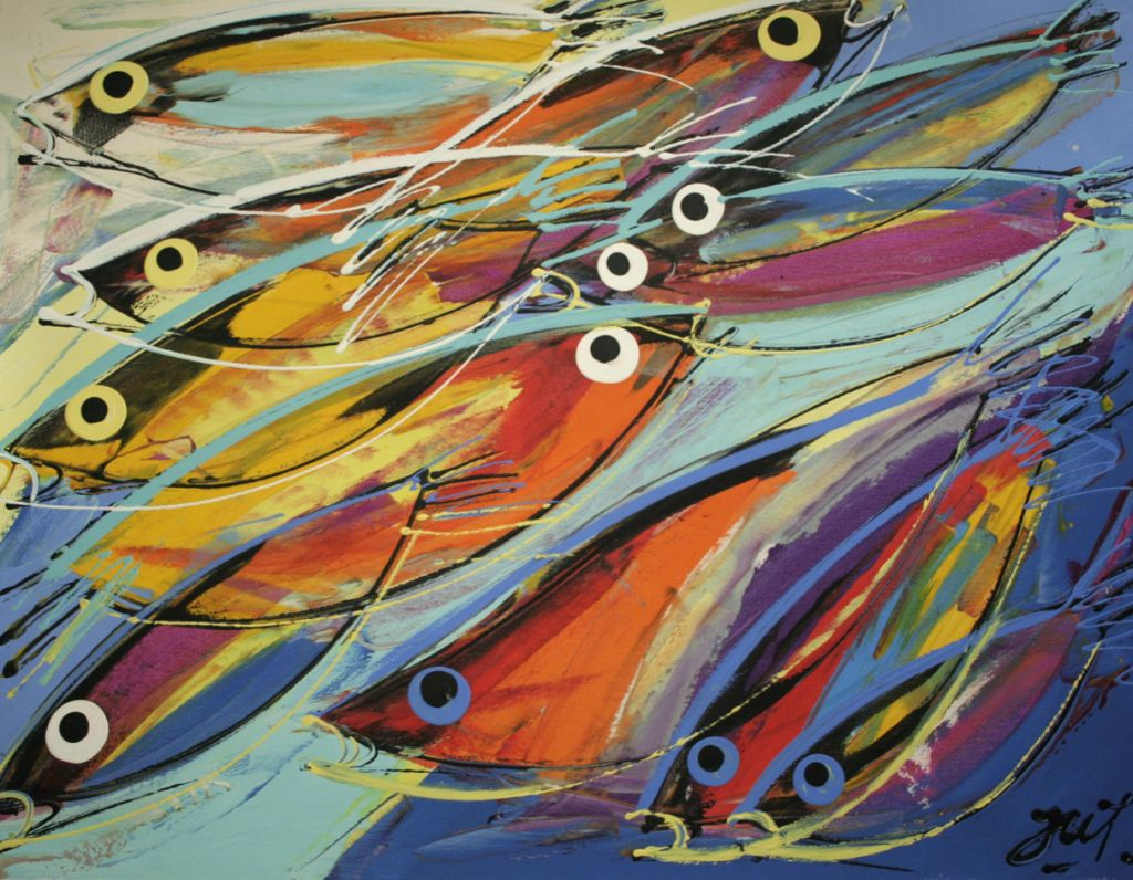 Peixes julian juarez for Cuadros de peces