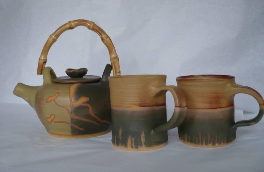 piezas de ceramica gres loreta bustos roa