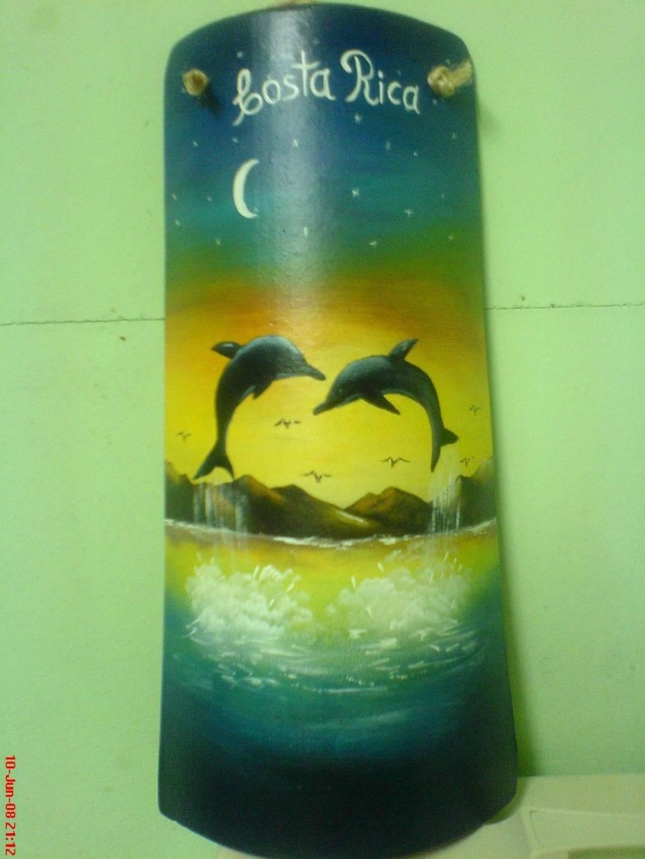 Delfines yesenia casta eda vargas for Pintura para tejas