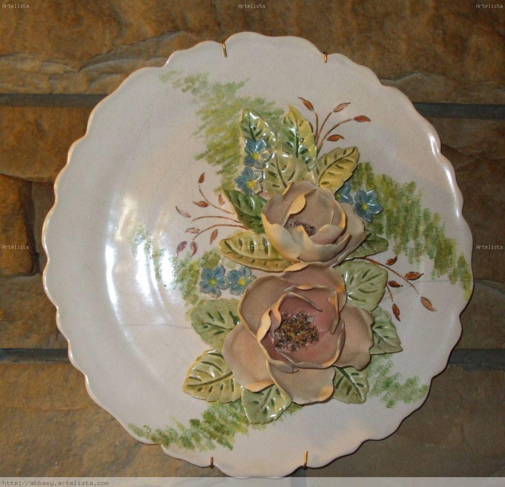 Plato de ceramica artesanal i josefa luisa piccinetti for Materiales para ceramica artesanal
