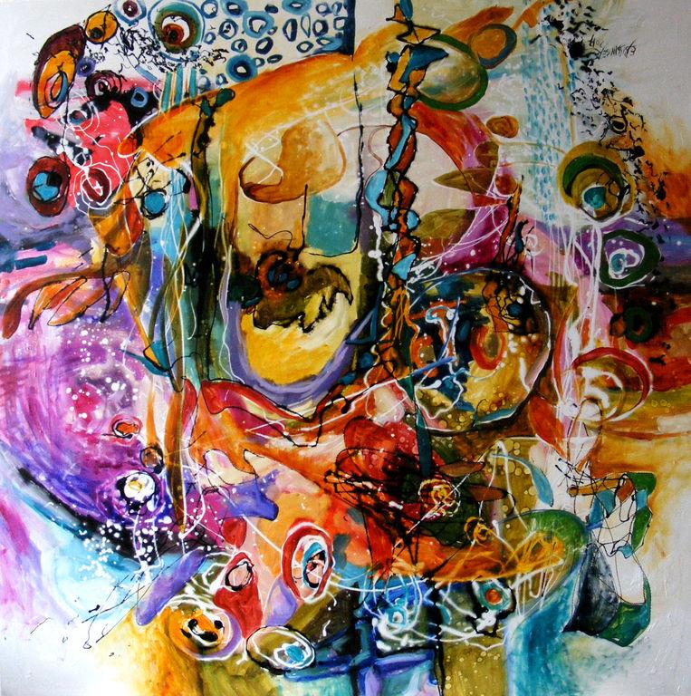 abstract ingerii joaca popice