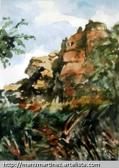 Fric - 20 - Cuenca Watercolour Canvas Landscaping