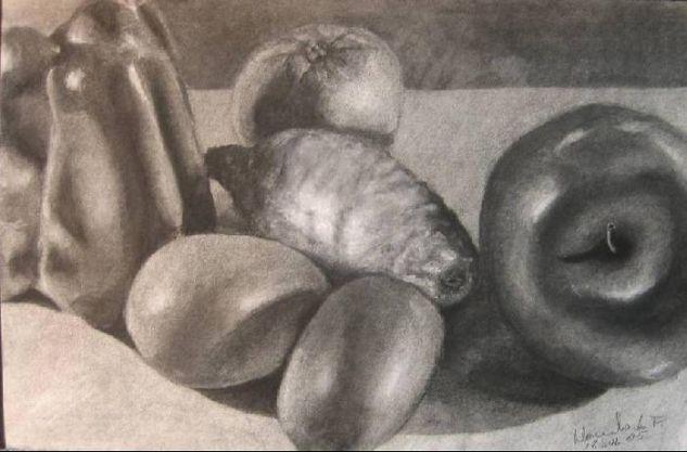 Bodegon natural frutas y verduras Otros Papel Bodegones