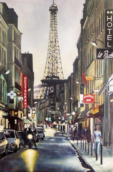 Paris (Rue St. Dominique) Lienzo Óleo Paisaje