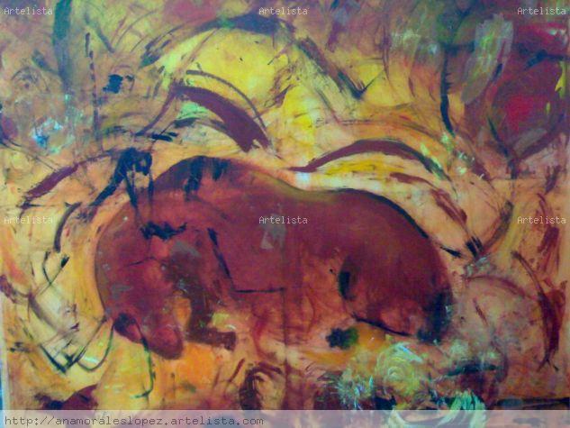 Homenaje a los maestros subterraneos y a Joaquin Vaquero Turcios Acrylic Canvas Animals