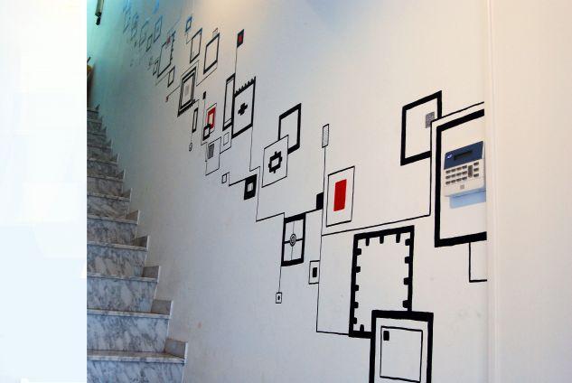 Motivo geometrico para unas escaleras javi valiente martin - Cuadros para subida escaleras ...