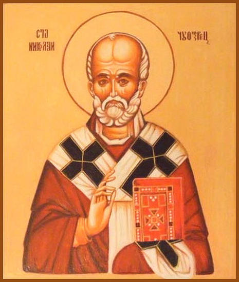 ST NICHOLAS  Panel Oil Portrait
