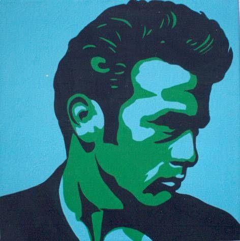 James Dean, El Rebelde I. Acrílico Tela Retrato