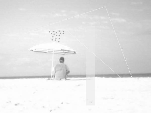 Olas 5 Conceptual/Abstracto Blanco y Negro (Química)