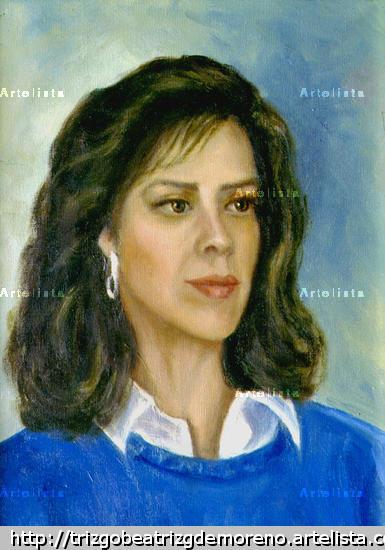 0063-01-008 Eliana Lienzo Óleo Retrato