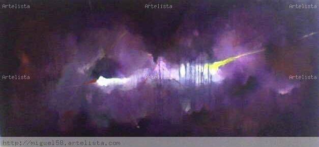 guacharos cave violet Lienzo Óleo Otros