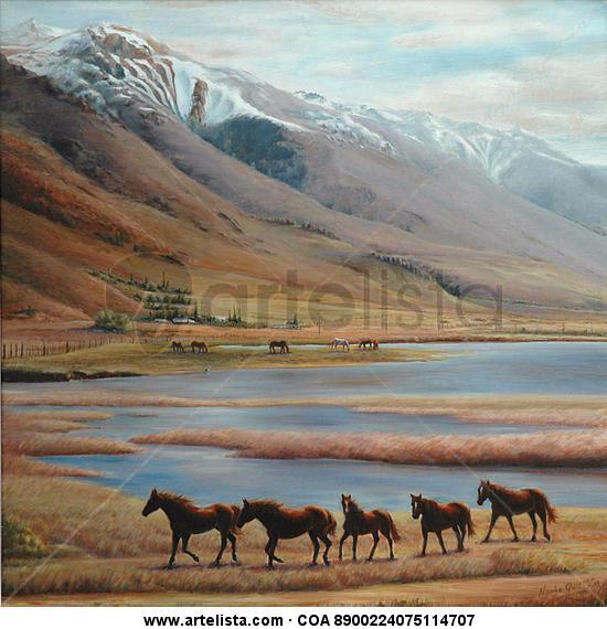 Inmensidad patagónica Lienzo Óleo Paisaje