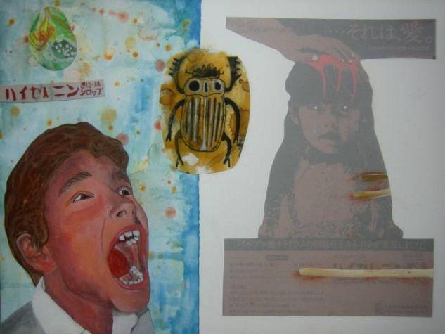 Psiquiatrico Japones02.Hyserenin Mixed media Paper Portrait
