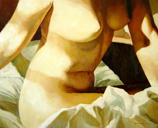 Sol de la mañana Canvas Oil Nude Paintings