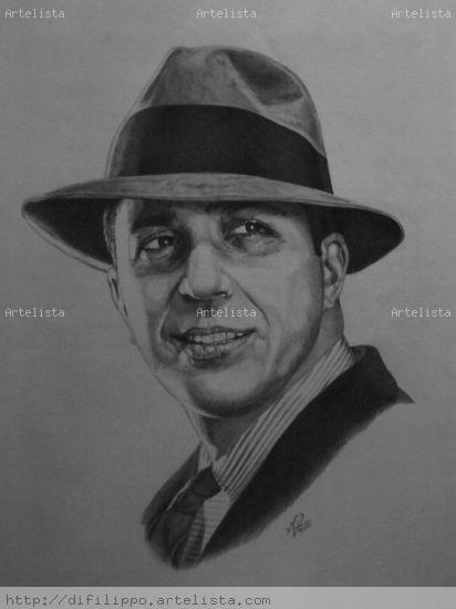 Retrato de Carlos Gardel Lápiz