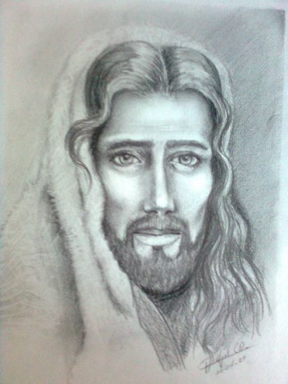 Rostro de Cristo Carboncillo