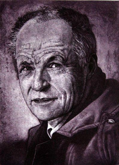 Retrato de Antonio López Etching Process