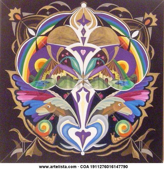 Mandala: Metamorfosis - Arbol de la vida Lienzo Acrílico Otros