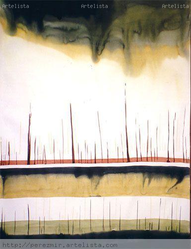 línea roja Watercolour Paper Landscaping