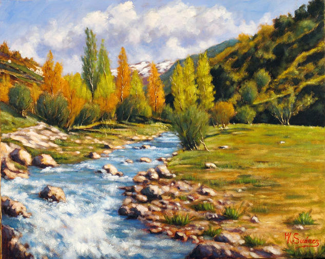 SIERRA NEVADA.- DESHIELO Canvas Oil Landscaping