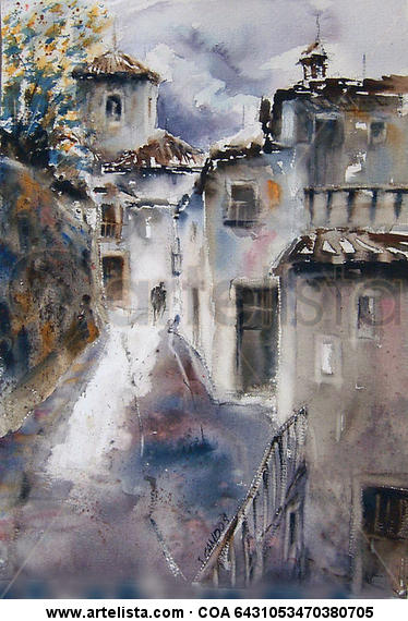 Capileira 1 (La Alpujarra) Watercolour Paper Landscaping
