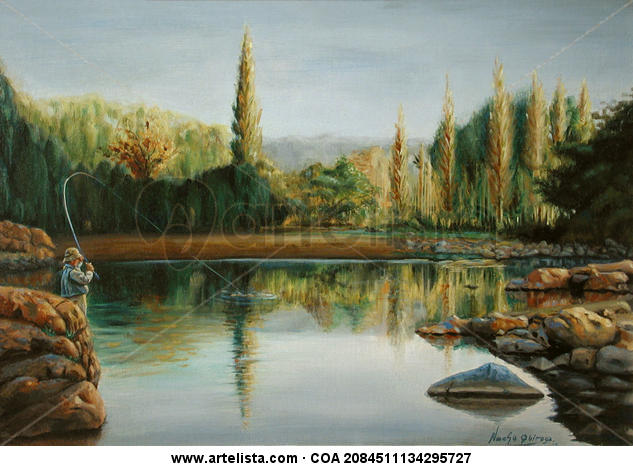 Reflejos del Panaholma Oil Canvas Landscaping