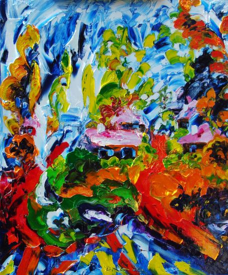 El Verano que huye, el Invierno que alcanza Canvas Oil Landscaping