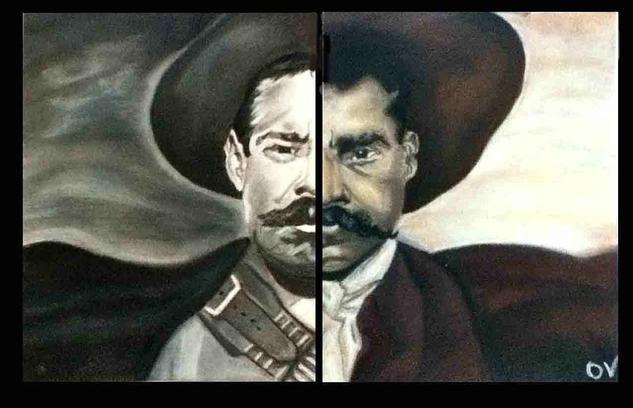 Pancho Villa y Emiliano Zapata Papel Pastel Retrato