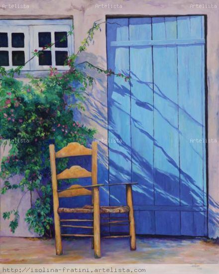 Silencio azul Oil Canvas Landscaping