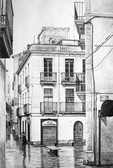 Calle de Vilanova Papel Grafito Bodegones