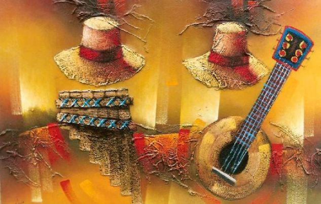 sombreros andinos Óleo Lienzo Otros