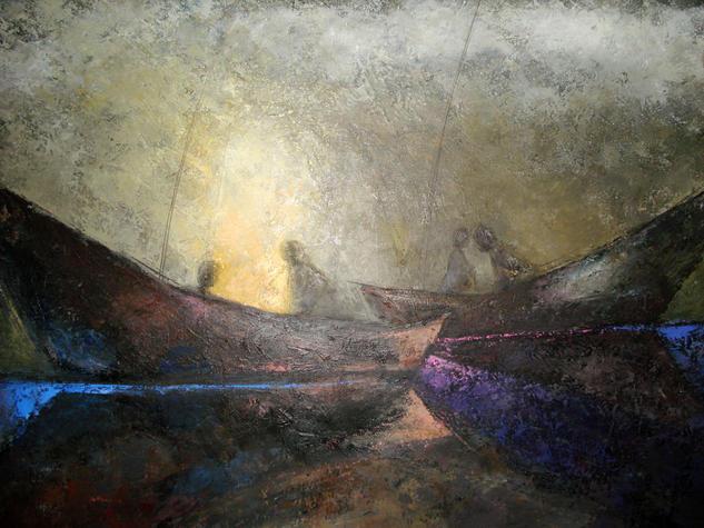 SOLEDAD Y SILENCIO Lienzo Acrílico Marina