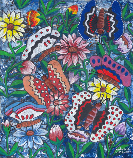 Jardín de los Andes Others Gouache Floral Painting