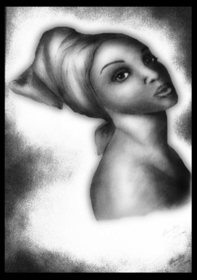 Mujer bahiana 5 Carboncillo