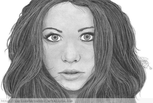 Michelle Trachtenberg Papel Grafito Retrato